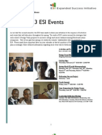 Expanded Success Initiative Spring 2013 Event Newsletter
