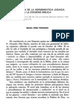 Pérez Fdez. M., Aportación de la hermeneútica judaica a la exégesis bíblica