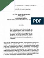 Rivera Cruchaga La Filosofia en La Universidad