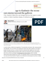 India's Message to Kashmir- The Noose Can Extend Beyond the Gallows-Mirza Waheed