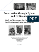 Preservation Through Bylaws and Ordinances Massachusetts 2003