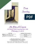 St. Rita Parish Bulletin 2/17/2013