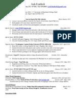 Josh Fendrick's Resume