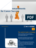 The 10 Commandments for Career Success
