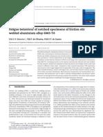 Fatigue Behaviour of Notched Specimens of Friction Stir