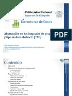 Abstracción en los lenguajes de programación y tipo de dato abstracto (TAD)