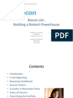 Biocon Ltd Brief - Robert Paul Ellentuck