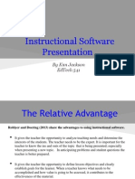 Instructional Software Presentation