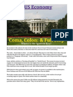 US Economy - Coma, Colon & Full Stop
