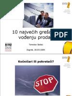 1 Tomislav Bekec - 10 Najvecih Gresaka u Vodenju Prodaje