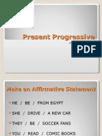 present progressive