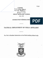 Tactical Employment of Field Artillery1943