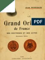 33701614 Jean Bidegain Le Grand Orient de France