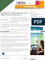 Noticias Terra Com Pe Internacional Rousseff Dice Que Ecuado