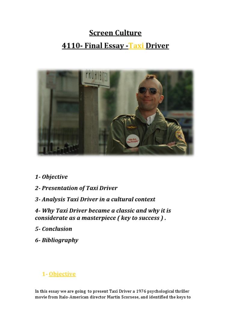 taxi driver movie analysis