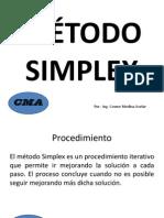 MÉTODO SIMPLEX RESPALDO