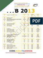 #Ciclismo Calendario Nacional de Mtb 2013 @Fvciclismo