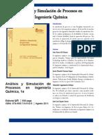 Analisis y Simulacion de Procesos en Ingenieria Quimica - Brochure