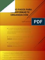 OCHO PASOS PARA TRANSFORMAR TU ORGANIZACIÓN