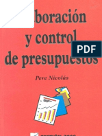 Elaboración y Control de Presupuesto (Edic.Gestión 2000, Peré Nicolás)