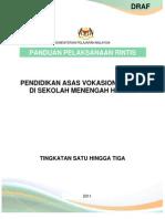 Panduan Pelaksanaan Pendidikan Asas Vokasional (PAV)