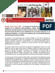 COMUNICADO 27ProgramaPresidencialAfro