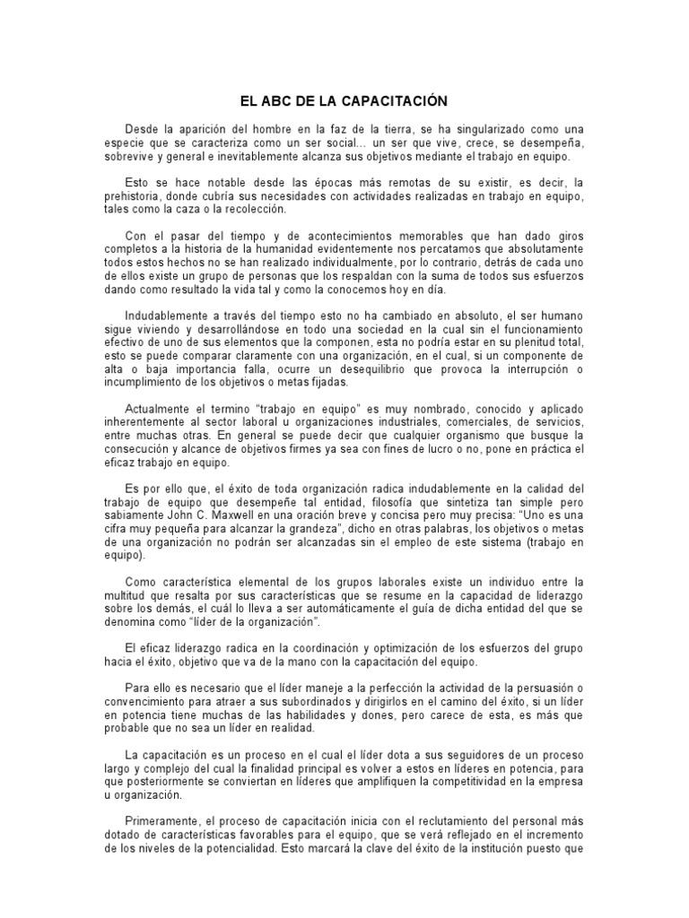 EL ABC DE LA CAPACITACIÓN ... conclusion