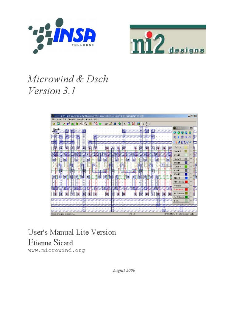 Microwind And Dsch User Manual V31 Lite Mosfet Field Effect Cmos Inverter Parallel Lc Oscillator Oscillatorcircuit Signal Transistor
