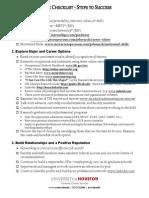 Career Checklist