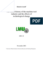 The recent history of the machine tool