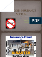 Frauds in Insurance Sector