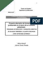 Proyecto Alternativo La Formacion Del Profesorado