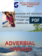 Adverbs Adverbial Phrases