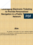 Leveraging Electronic Ticketing .ppt