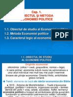 Capitolul 1 - Obiectul Si Metoda Economiei Politice