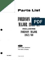 Ford Super Major Parts List