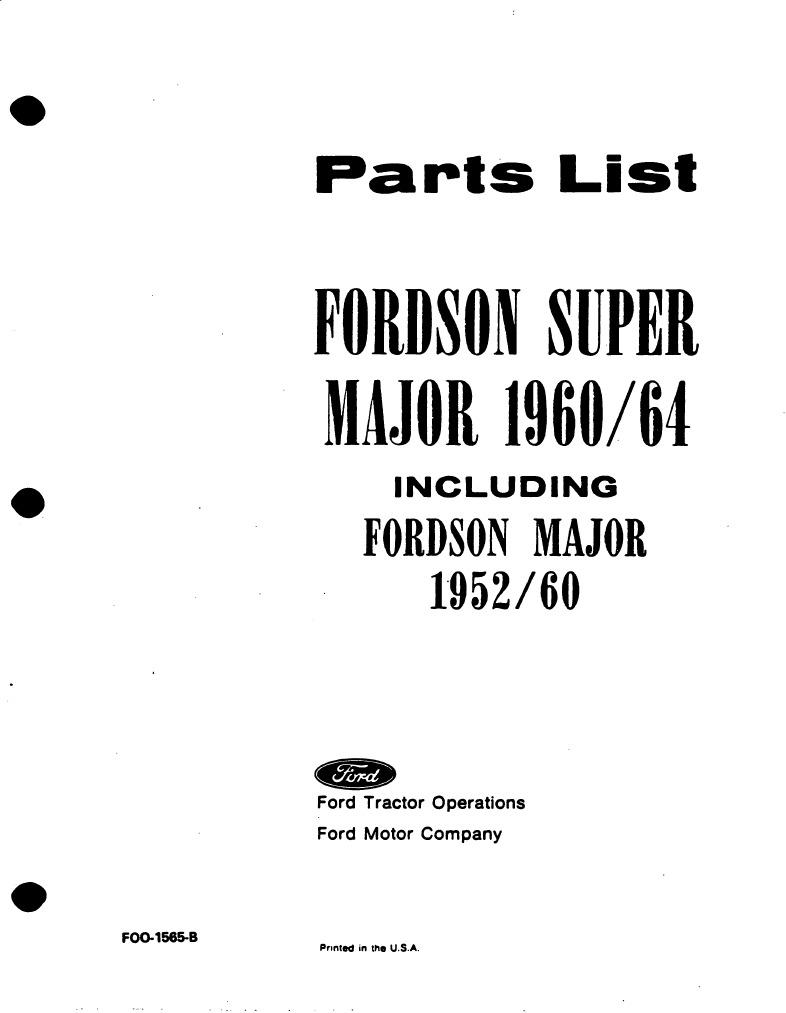Engine fordson super major Ford &