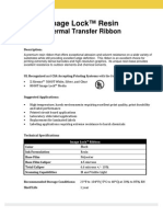 Image Lock Resin Ribbon Spec Sheet