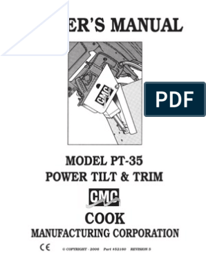 CMC PT-35 Owners Manual | | Switch on teleflex power trim, cmc parts, 25 hp mercury outboard power trim, small outboard power trim, cmc power tilt, cmc trim motor, cmc jack plates,