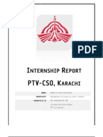 My Internship Report on PTV CSO Karachi