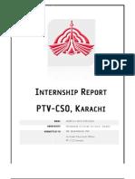 My Internship Report on PTV CSO Karachi