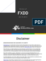 Review of FXDD 2013
