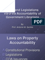 Laws and legislations vis-à-vis accountability of government librarians