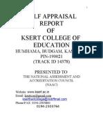 Self Appraisal Report KSERT College