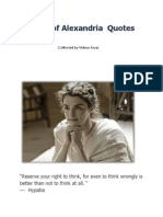 Hypatia of Alexandria  Quotes 