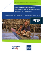 Impact of Out-of-Pocket Expenditures on Families and Barriers to Use of Maternal and Child Health Services in Cambodia