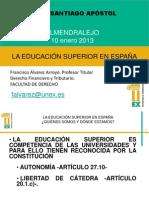 EDUCACION SUPERIOR EN ESPAÑA