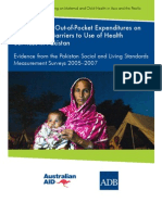 The Impact of Out-of-Pocket Expenditures on Families and Barriers to Use of Health Services in Pakistan
