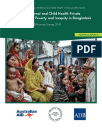 Impact of Maternal and Child Health Private Expenditure on Poverty and Inequity in Bangladesh