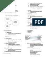 Notes on Nursing Management
